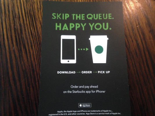 Starbucks Mobile App Ordering Flier