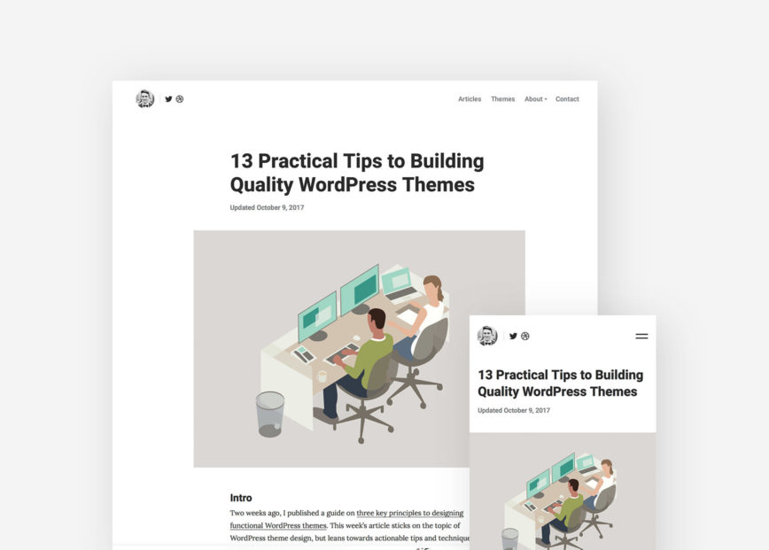 Download Tabor, a WordPress Theme for Growing your Audience